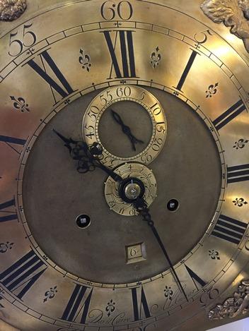 wijzerplaat Alkmaarse klok - Lars Dekker uurwerkreparatie